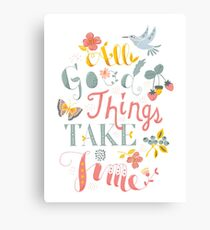 All Good Things - Hand Lettering Inspiring Quote Canvas Print