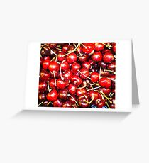 """Cherries Ripe . . "" Greeting Card"