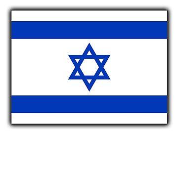 ISRAEL, Israeli, Flag, Flag of Israel, Holy Land, Jerusalem by TOMSREDBUBBLE