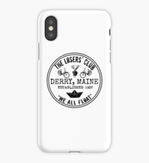 The Losers' Club Emblem - Black Text iPhone Case/Skin