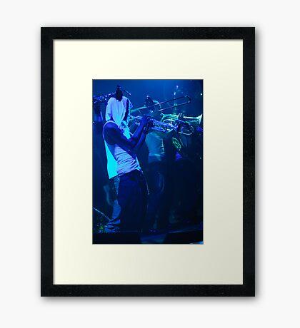 In Blue Framed Print