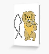 feed them to the lions Greeting Card