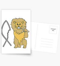 feed them to the lions Postcards