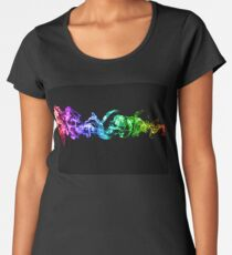 Colorful Abstract Smoke - A Rainbow in the Dark Women's Premium T-Shirt