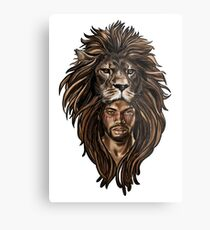Man Lion Metal Print