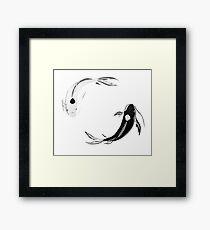 Yin Yang Koi - Avatar Framed Print