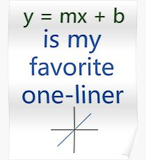 y = mx + b is my favorite one-liner Poster