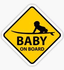 Baby on Board, surf board Sticker