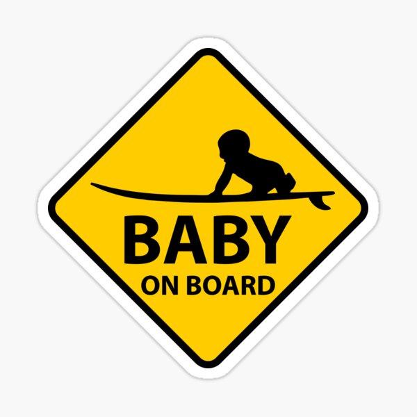 Baby an Bord, Surfbrett Sticker