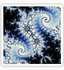 Three Blue Stars - fractal design  Sticker