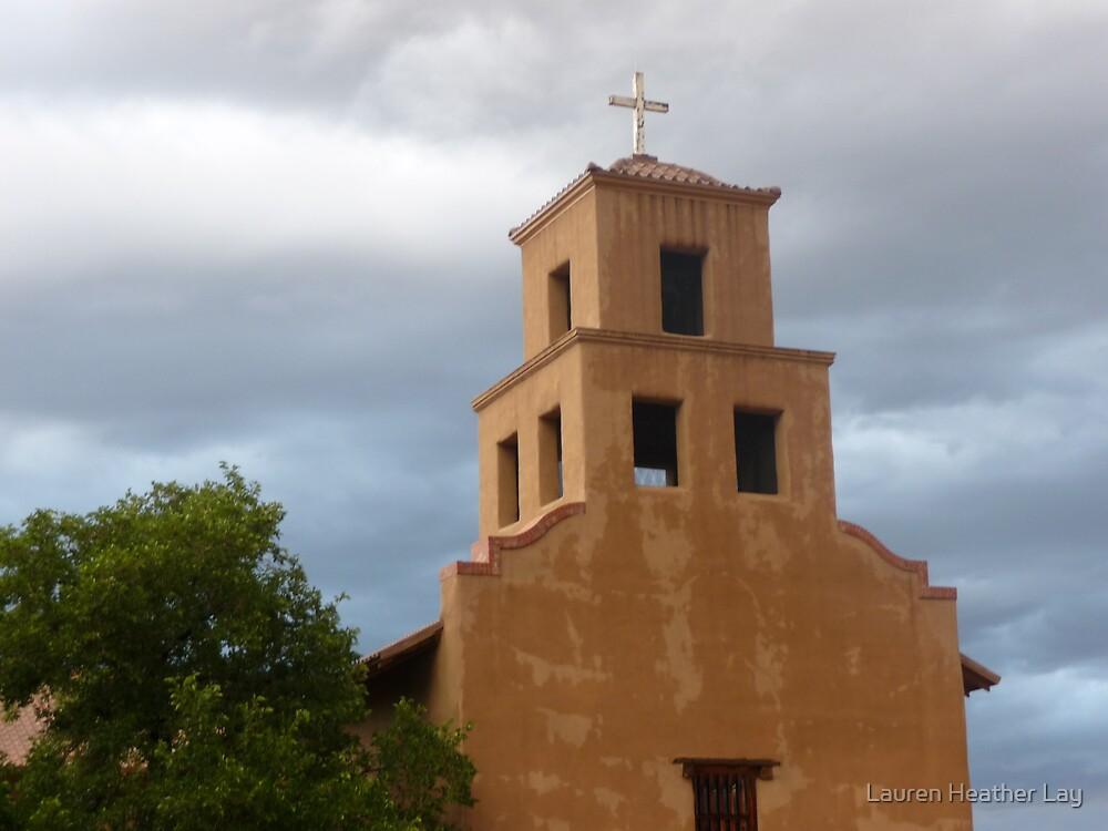 Santa Fe Church by Lauren Heather Lay