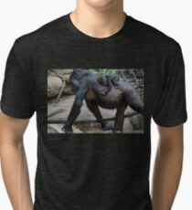 Gorilla with cute Baby Tri-blend T-Shirt