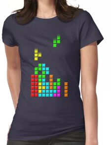 Tetris Blocks Retro Gamer T-shirt for Women. S to 2XL