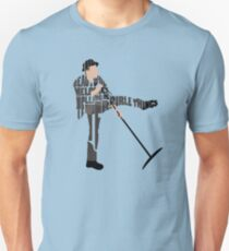 Typographic and Minimalist Tom Waits Illustration T-Shirt