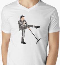 Typographic and Minimalist Tom Waits Illustration T-Shirt