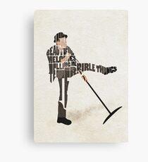 Typographic and Minimalist Tom Waits Illustration Canvas Print