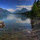 Glacier National Park Lake and Mountains by StonePics