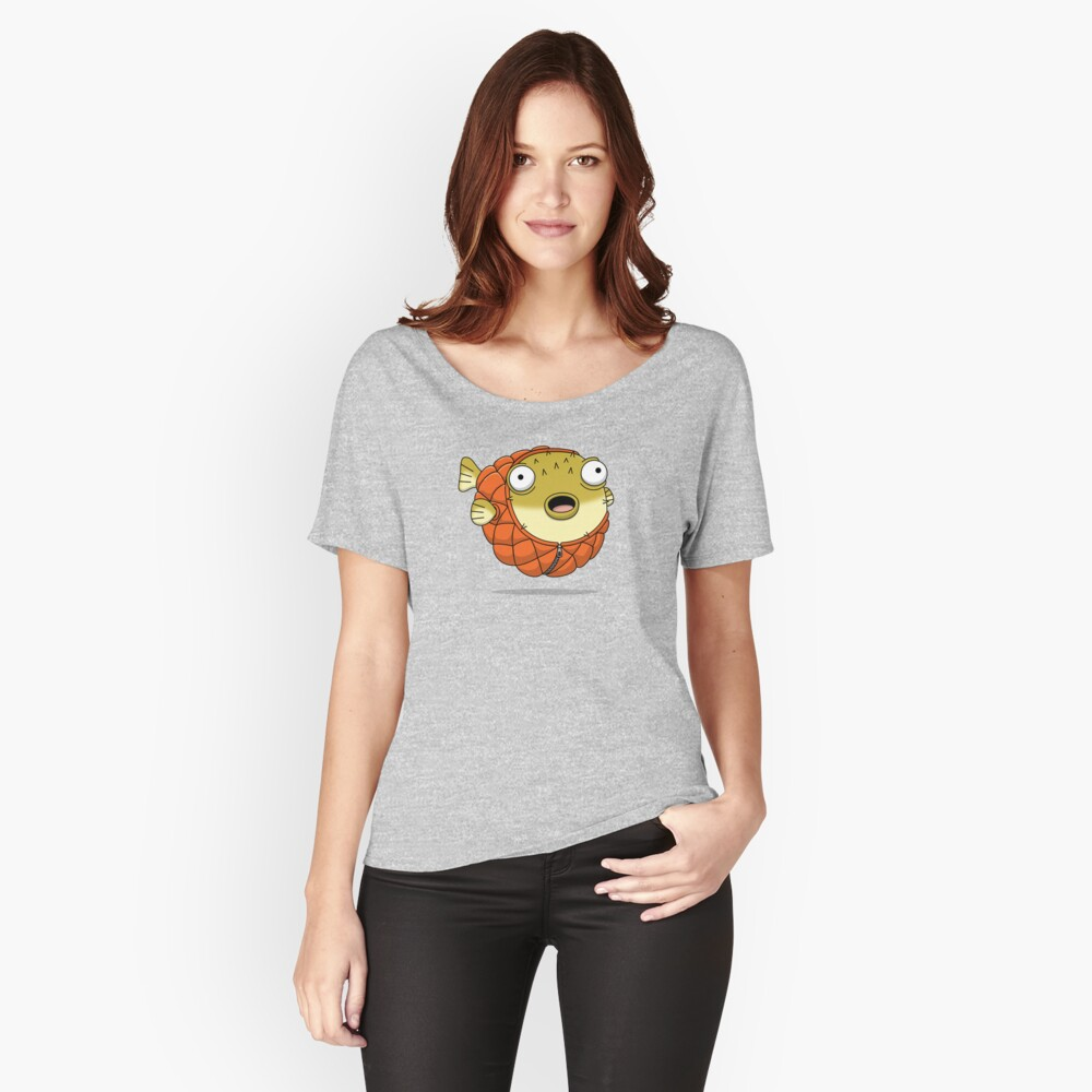 Puffer fish Women's Relaxed Fit T-Shirt Front