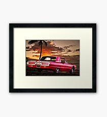 1965 Ford Thunderbird 'Maui Sunset' Framed Print