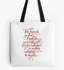 Vær frimodig og sterk Tote Bag