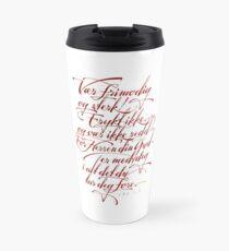 Vær frimodig og sterk Travel Mug