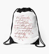 Vær frimodig og sterk Drawstring Bag