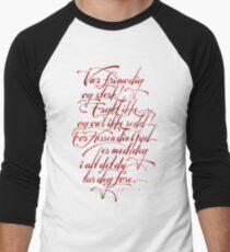 Vær frimodig og sterk Men's Baseball ¾ T-Shirt