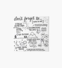 Don't Forget Art Board