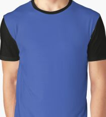 Fall/Winter 2017-2018 trendy color : PANTONE 18-3949 Dazzling Blue Graphic T-Shirt