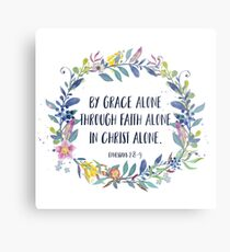 By Grace Alone - Christian Quote Metal Print