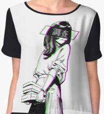 STUDY - Sad Japanese Aesthetic Women's Chiffon Top