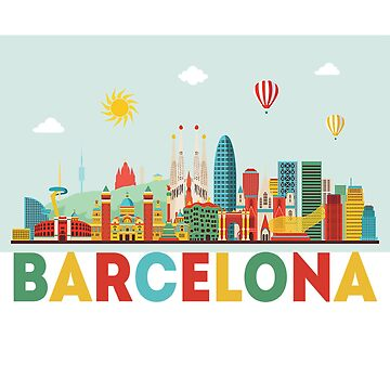BARCELONA MERCH STICKER IPHONE CASE by youtubemugs