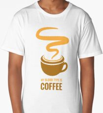 Distress - My Blood Type is Coffee Long T-Shirt