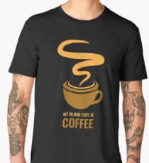 Distress - My Blood Type is Coffee Men's Premium T-Shirt