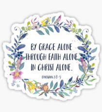 Par Grace Alone - Citation Chrétienne Sticker