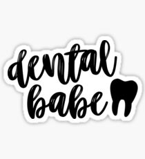 Dental Babe  Sticker