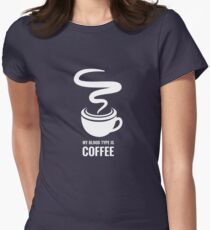 Humorous My Blood Type Is Coffee T-Shirt