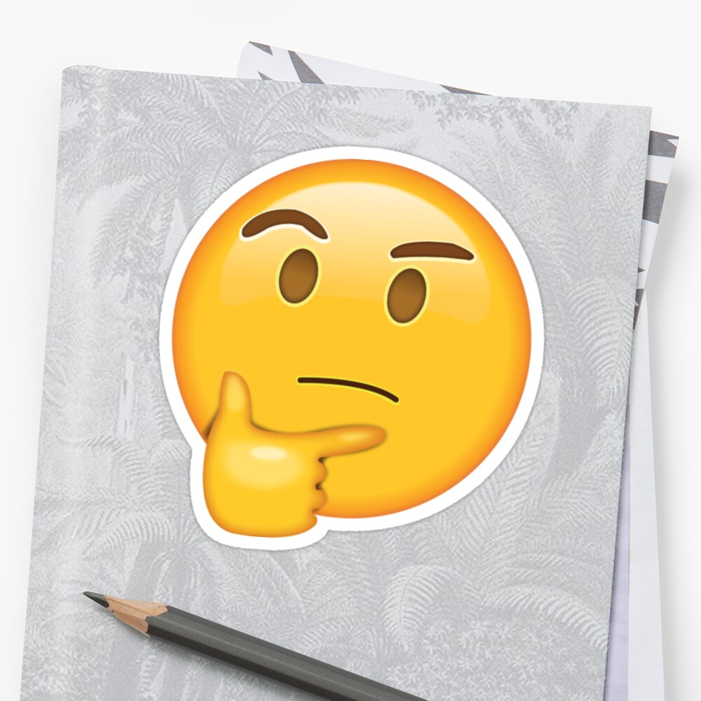 Quot Questioning Emoji Quot Sticker By Capri2k Redbubble