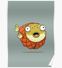 Puffer fish Poster