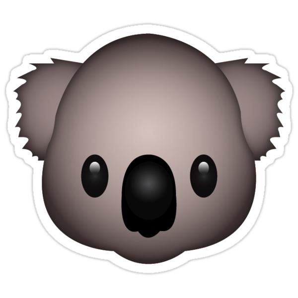 """""""Koala Emoji"""" Stickers by Ethan Williams"""