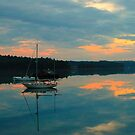 Sailboat, Coast of Maine by fauselr