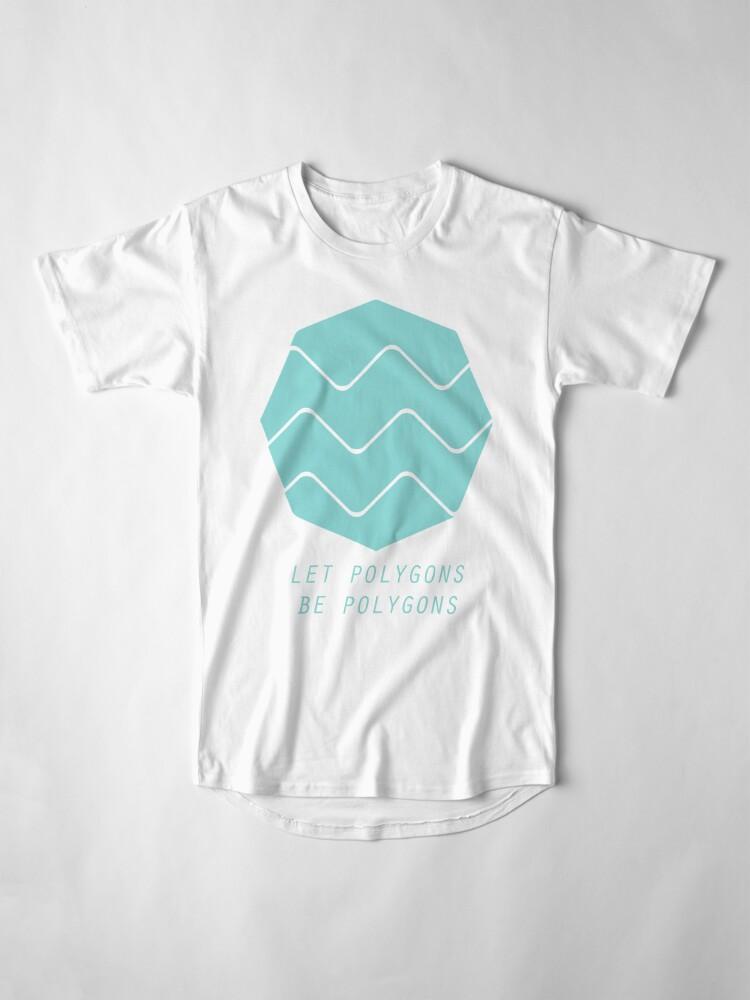 Vista alternativa de Camiseta larga Deja que los polígonos sean polígonos