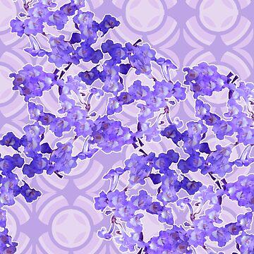 Ballenita flower blues by Pacoredbubble