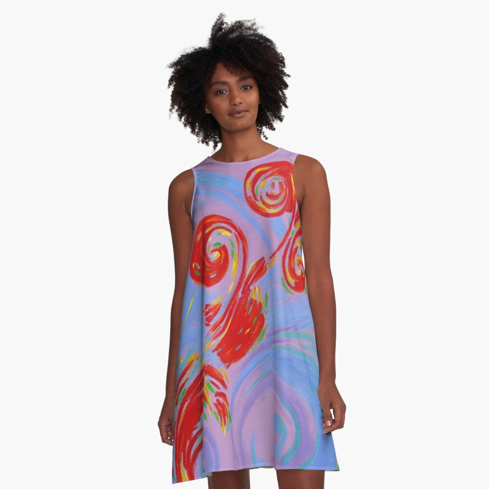 Painted Music A-Line Dress Front