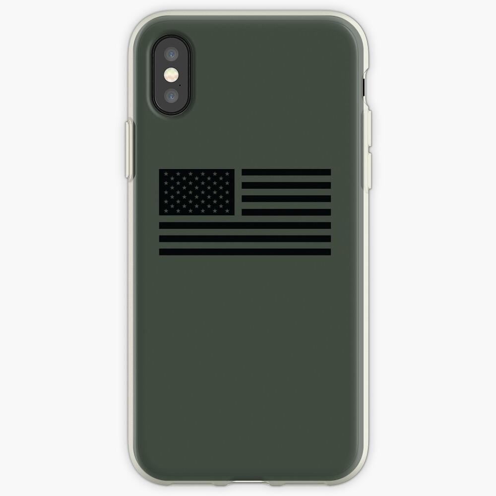 Bandera americana táctica Vinilos y fundas para iPhone