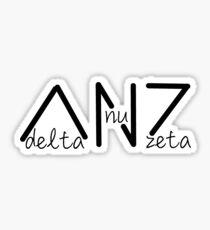 Delta Nu Zeta Sticker