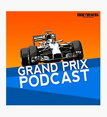 Grand Prix Podcast logo Photographic Print