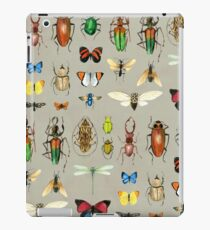 The Usual Suspects - Insects on grey - watercolour bugs pattern by Cecca Designs iPad Case/Skin