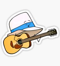 Fedora Crooner Sticker