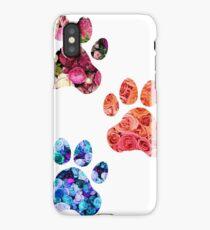 Rose Paw Print Trio iPhone Case